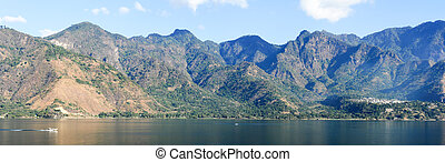 Panoramic view of lake Atitlan