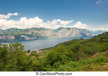 Panoramic view of Lake Garda, Italy