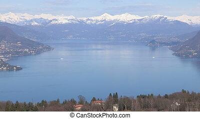 Panoramic view of Lake Maggiore