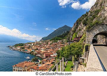 Panoramic view of Limone sul Garda, Italy - Panoramic view...