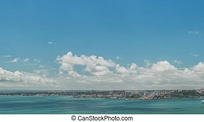 Panoramic view of Lisbon city and Tagus river - Lisbon...