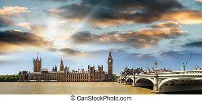 Panoramic view of London, UK