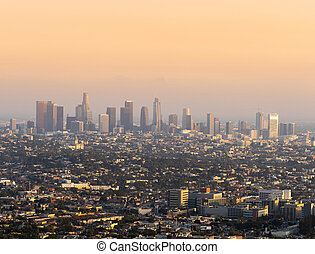 Panoramic view of Los Angeles, USA.
