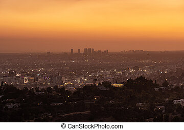 Panoramic view of Los Angeles, USA