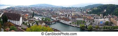 Panoramic view of Lucern, Switzerland