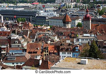 Panoramic view of Lucerne Switzerland