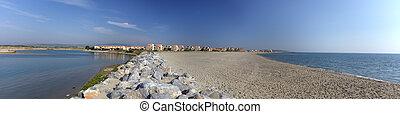 Panoramic  view of mediterranean sea coast