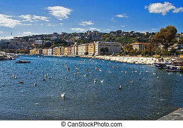 Panoramic view of Mergellina, Naples
