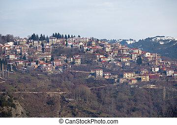 Panoramic view of Metsovo