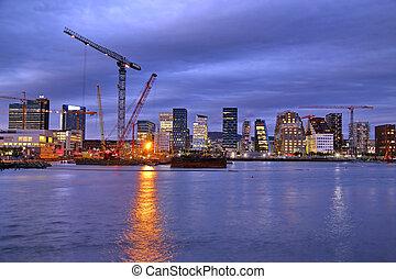 Panoramic View Of Modern buildings in Oslo, Norway