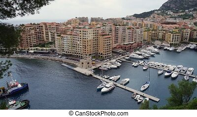 Panoramic view of Monaco in spring of 2018