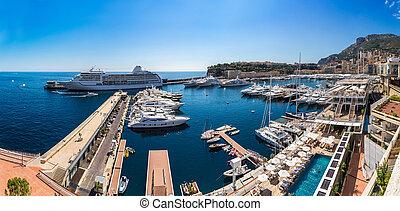 Panoramic view of Monte Carlo, Monaco - Panoramic view of ...