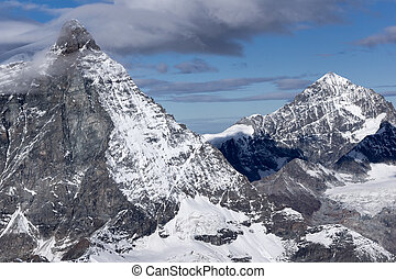 Panoramic view of mount Matterhorn, Canton of Valais, Alps