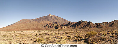 Panoramic View of Mount Teide in summer, Tenerife, Spain