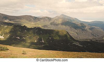 Panoramic view of mountain.