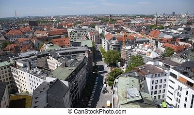 Panoramic view  of Munich from above, Bavaria