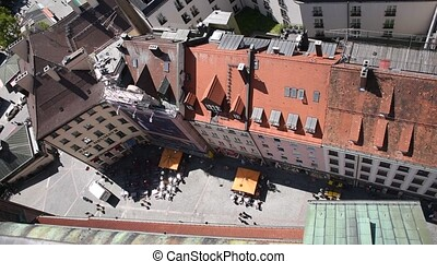 Old Buildings of Munich from above