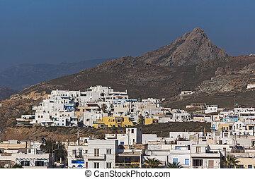 Panoramic view of Naxos Island, Cyclades, Greece