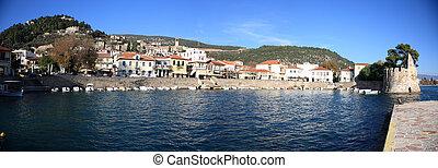 panoramic view of naypaktos town
