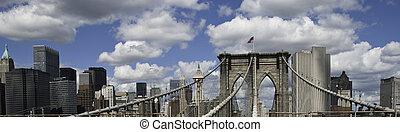 Panoramic View of New York City Buildings