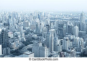 city - panoramic view of nice big city