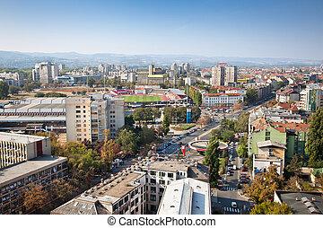 Panoramic view of Novi Sad, Serbia - Panoramic view of Novi...