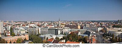 Panoramic view of Novi Sad, Serbia