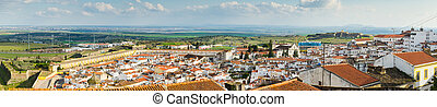Panoramic view of Old city of Elvas, south of Portugal.