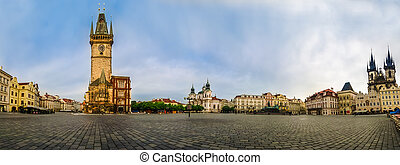 Panoramic view of Old Town Square, Praha