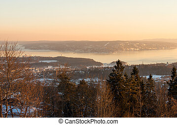 Panoramic view of Oslo Fjord