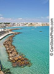 Panoramic view of Otranto. Puglia. Italy.
