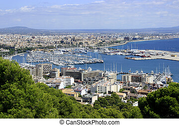 Panoramic view of Palma de Mallorca