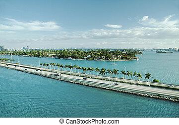 Panoramic view of Port Everglades