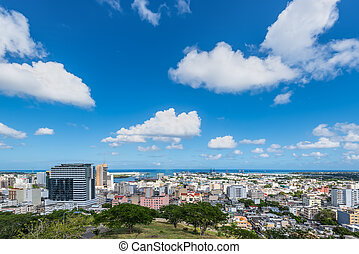 Panoramic view of Port Louis, Mauritius, Africa - Port Louis...