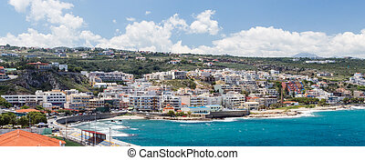Panoramic view of Rethymno town