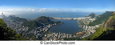 Panoramic view of Rio De Janeiro, Brazil landscape -...