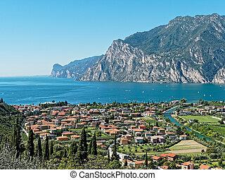 Panoramic view of Riva del Garda Italy