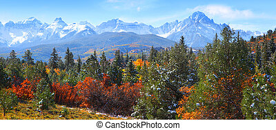 Rocky mountains - Panoramic view of Rocky mountains