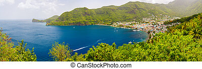 Panoramic view of Saint Lucia