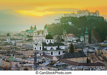 Panoramic view of Salzburg, Salzburger Land