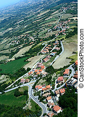 Panoramic view of San-Marino