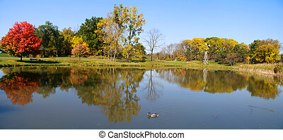 Panoramic view of scenic lake
