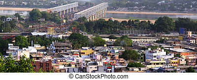 Panoramic view of south Indian City