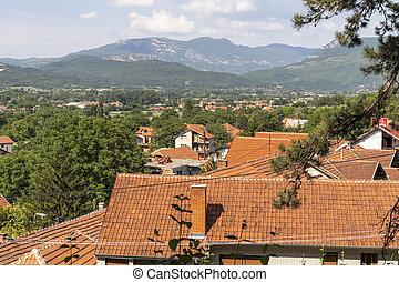 Panoramic view of spa resort of Niska, Serbia