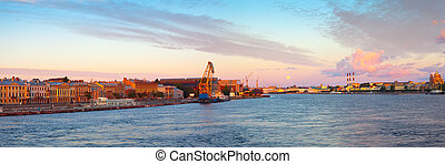 panoramic view of St. Petersburg in morning