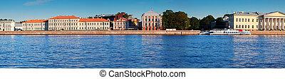 view of St. Petersburg. Universitetskaya Embankment