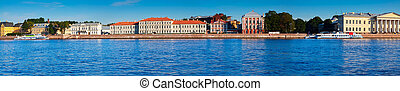 Panoramic view of St. Petersburg. Vasilyevsky Island