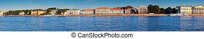Panoramic view of St. Petersburg. Vasilyevsky Island