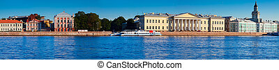 St. Petersburg. Vasilyevsky Island - Panoramic view of St. ...
