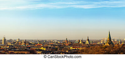 Panoramic view of Stockholm from the south - Stockholm a ...
